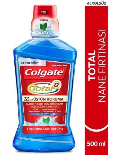 Colgate Total Nane Fırtınası Plağa Karşı Tam Koruma Alkolsüz Ağız Bakım Suyu 500 Ml Renksiz